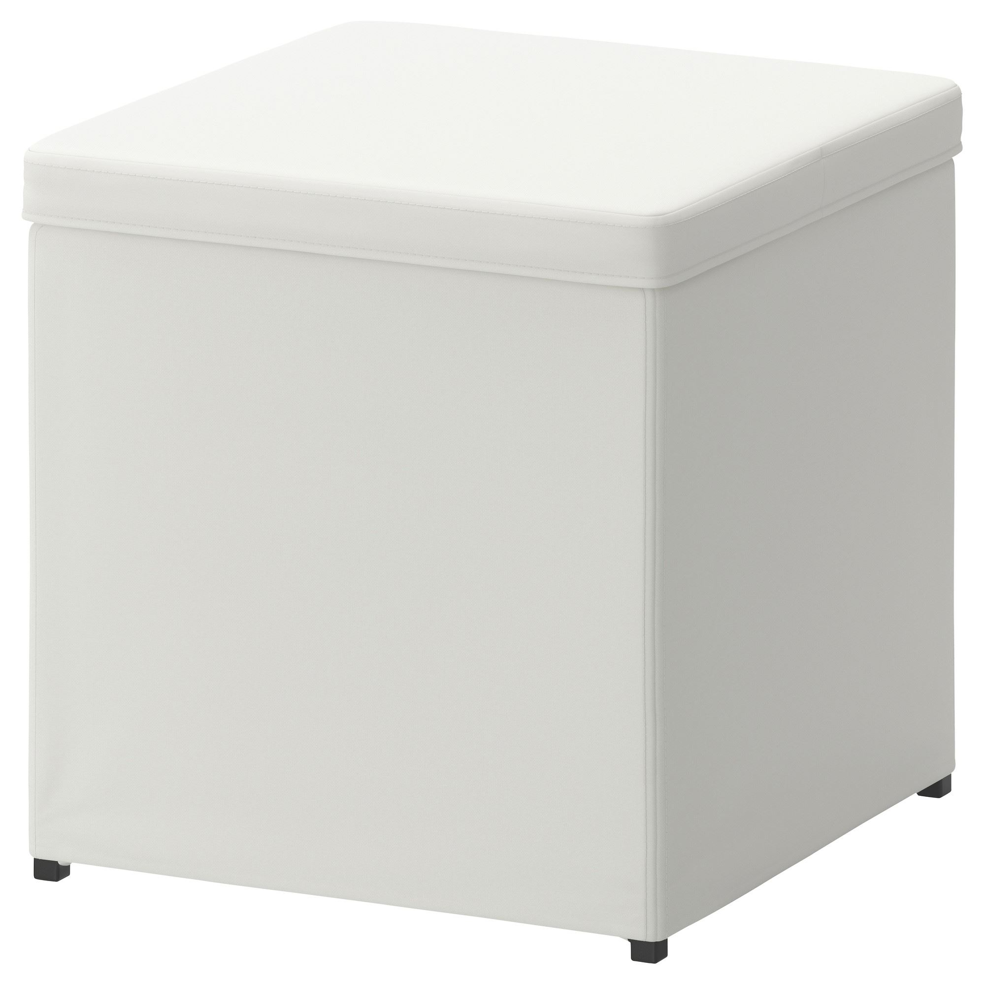 BOSNAS footstool with storage ransta white   IKEA Living Room on cocktail ottoman ikea, cube stool ikea, accent chair ikea, bench ikea, cube cabinet ikea, outdoor ottoman ikea, poufs ikea, cube storage ikea,