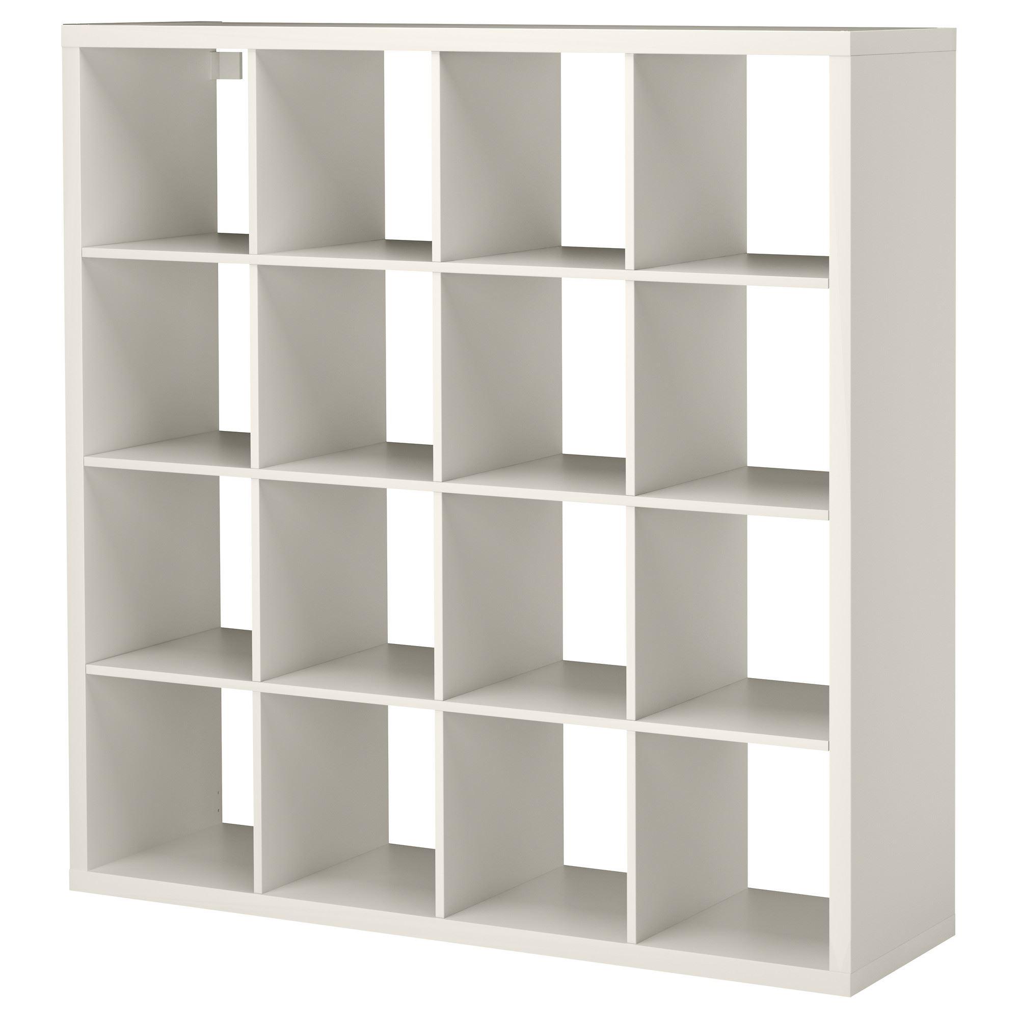 Regal ikea kallax  KALLAX shelving unit with 16 compartments white 147x39x147 cm ...