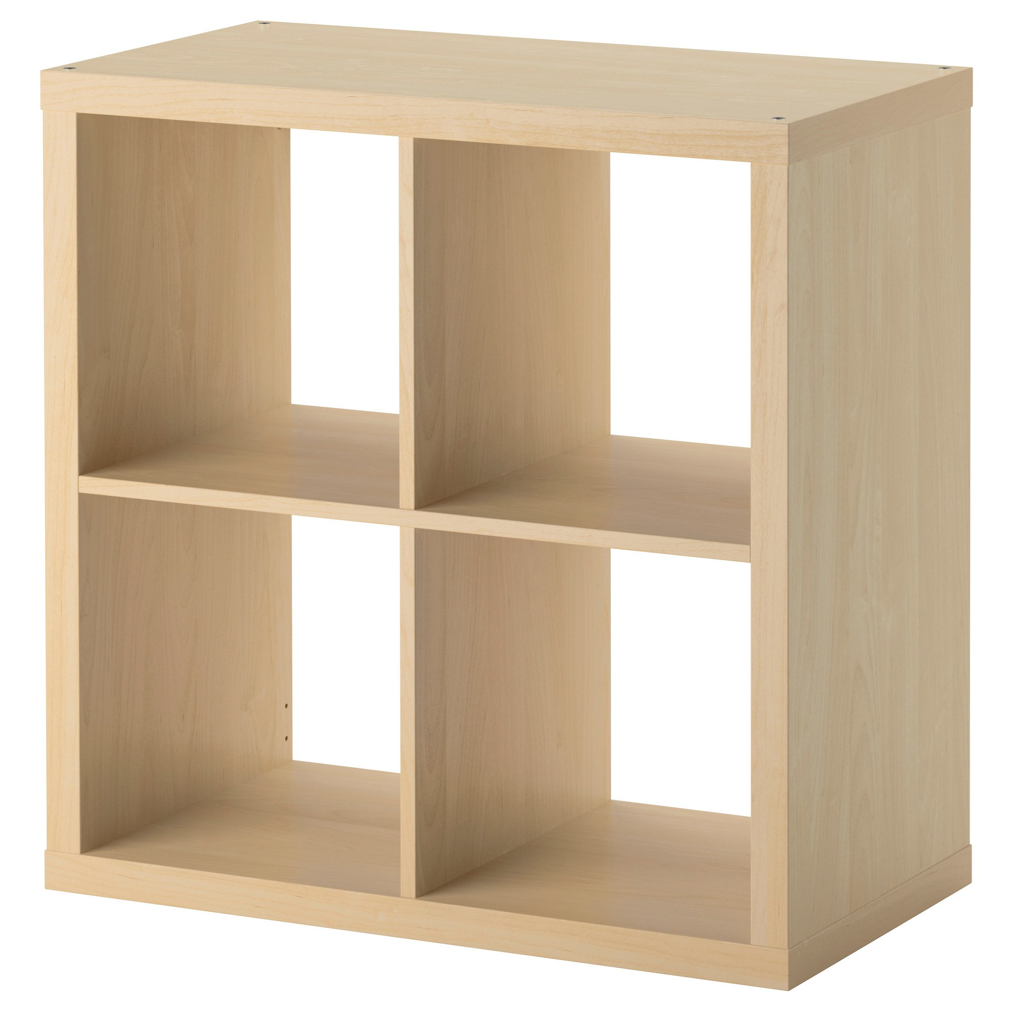 Kallax Shelving Unit With 4 Compartments Birch Effect 77x39x77 Cm  # Notice Expedit