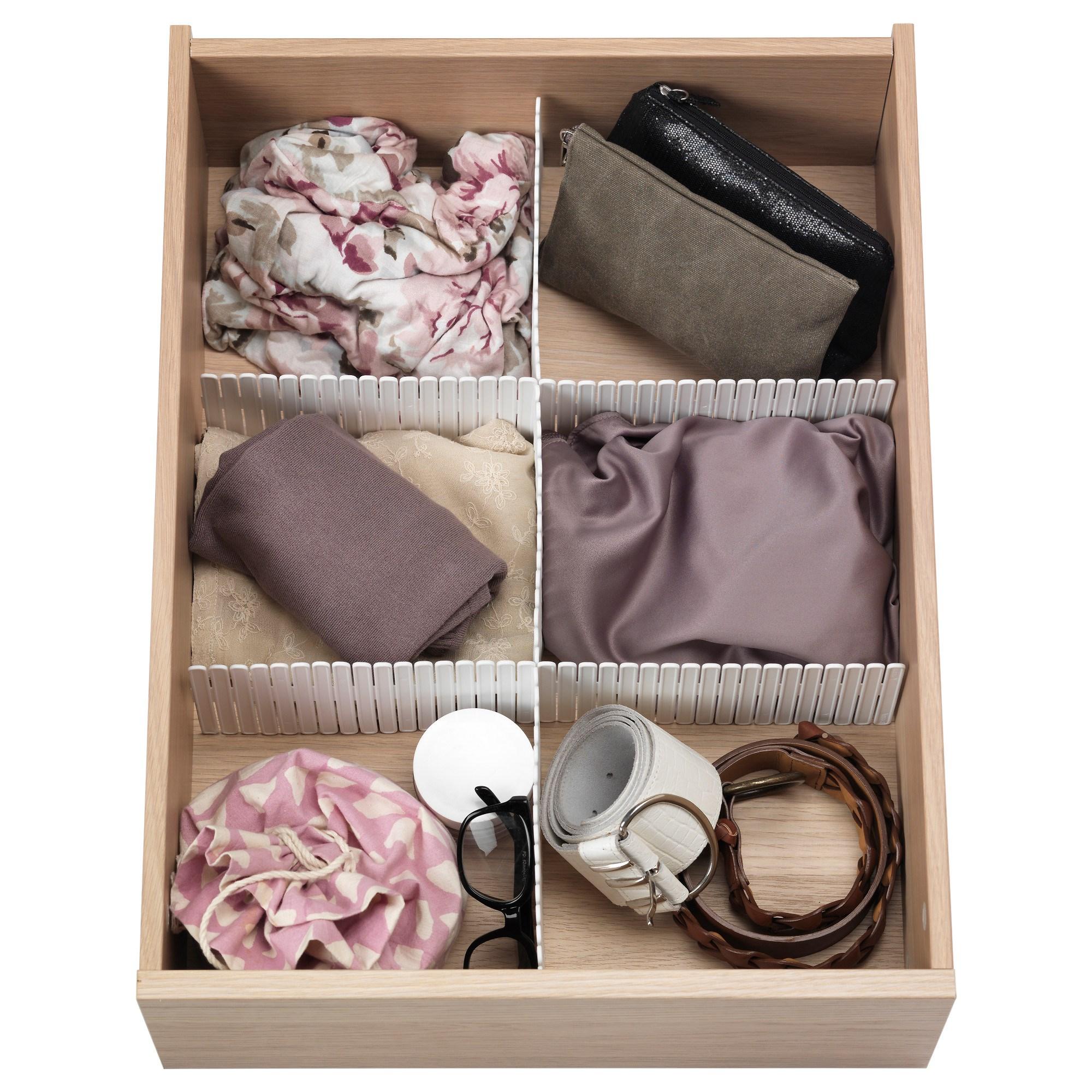 hÖfta drawer organizer white 55x10 cm ikea hallway
