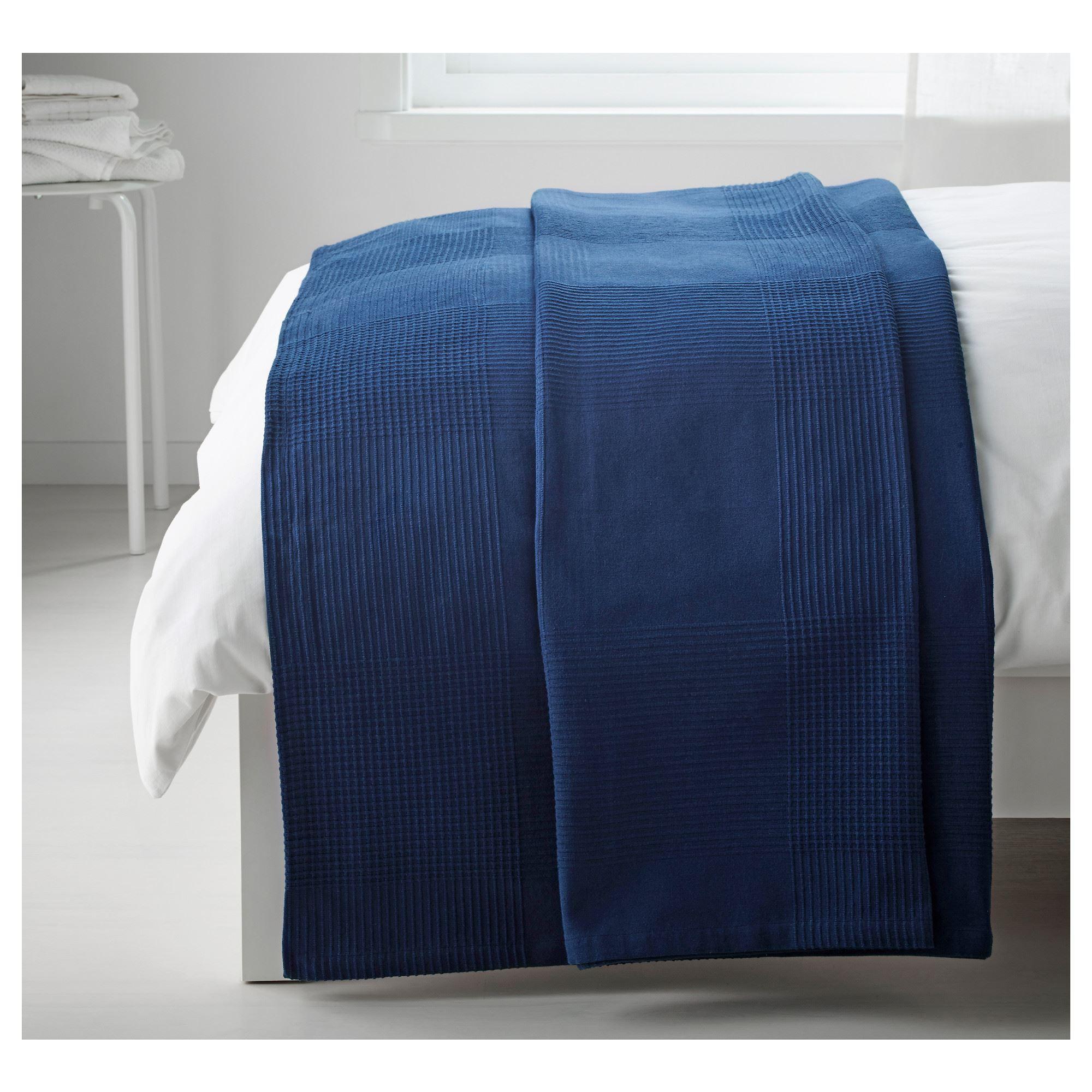 Indira Single Bedspread Blue 150x250 Cm Ikea Home Textile
