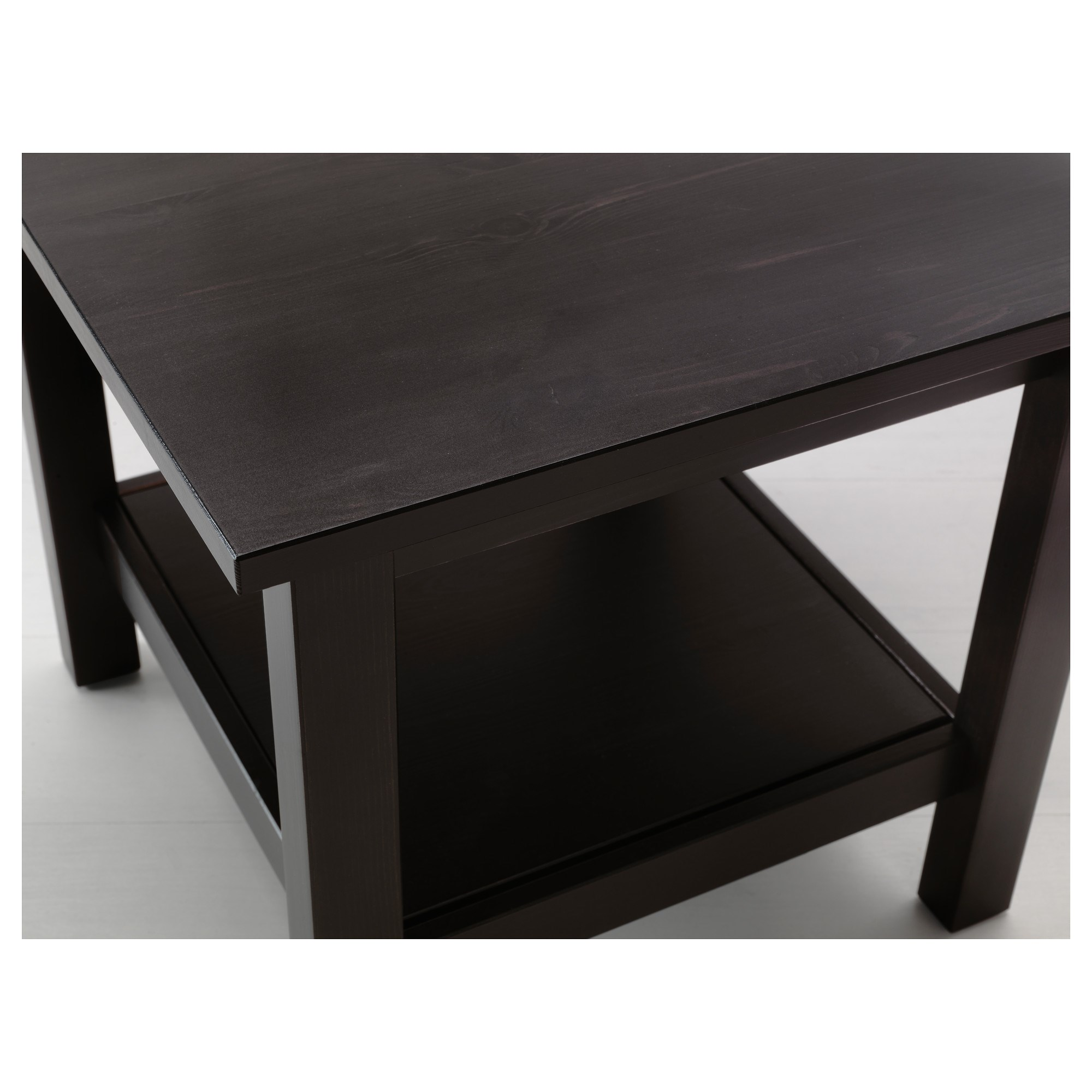 hemnes side table blackbrown 55x55 cm  ikea living room
