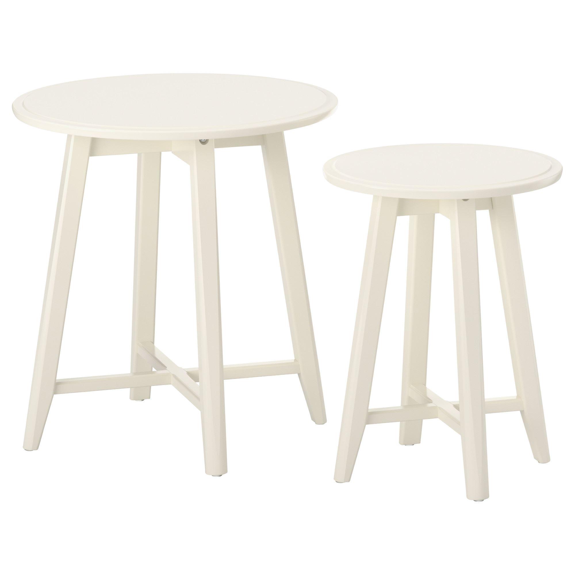 kragsta nest of tables white  ikea living room