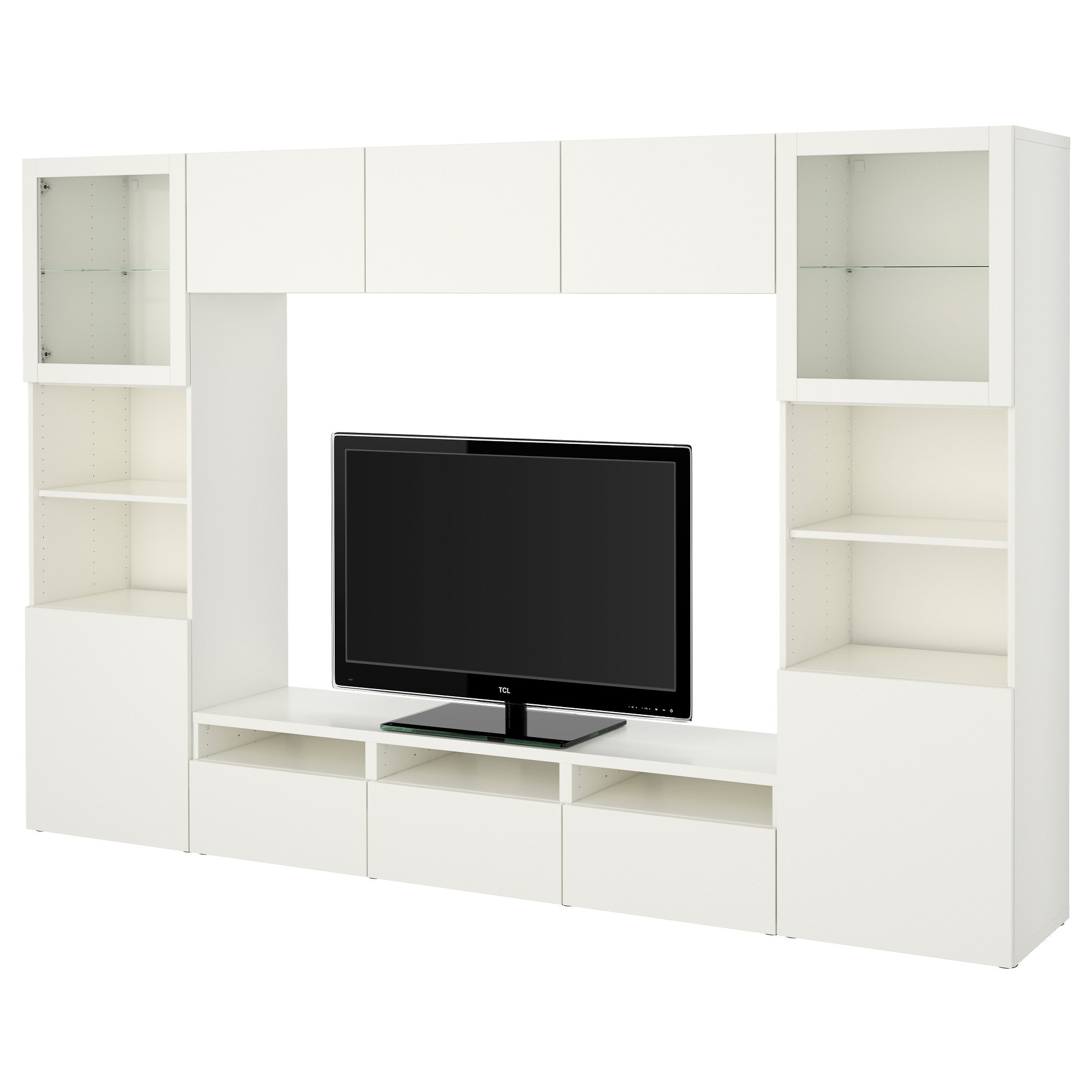 BESTA/LAPPVIKEN tv storage unit white 300x40x192 cm | IKEA