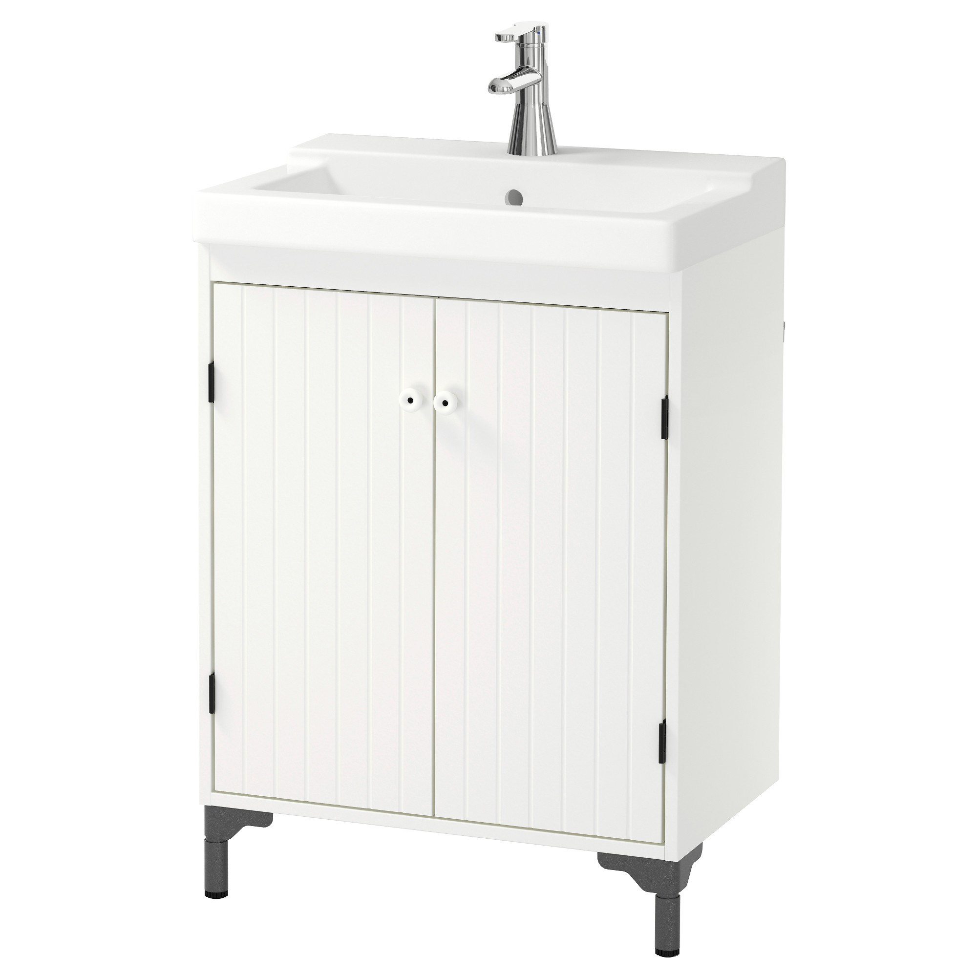 Silveran Tallevikenwash Basin And Cabinet White