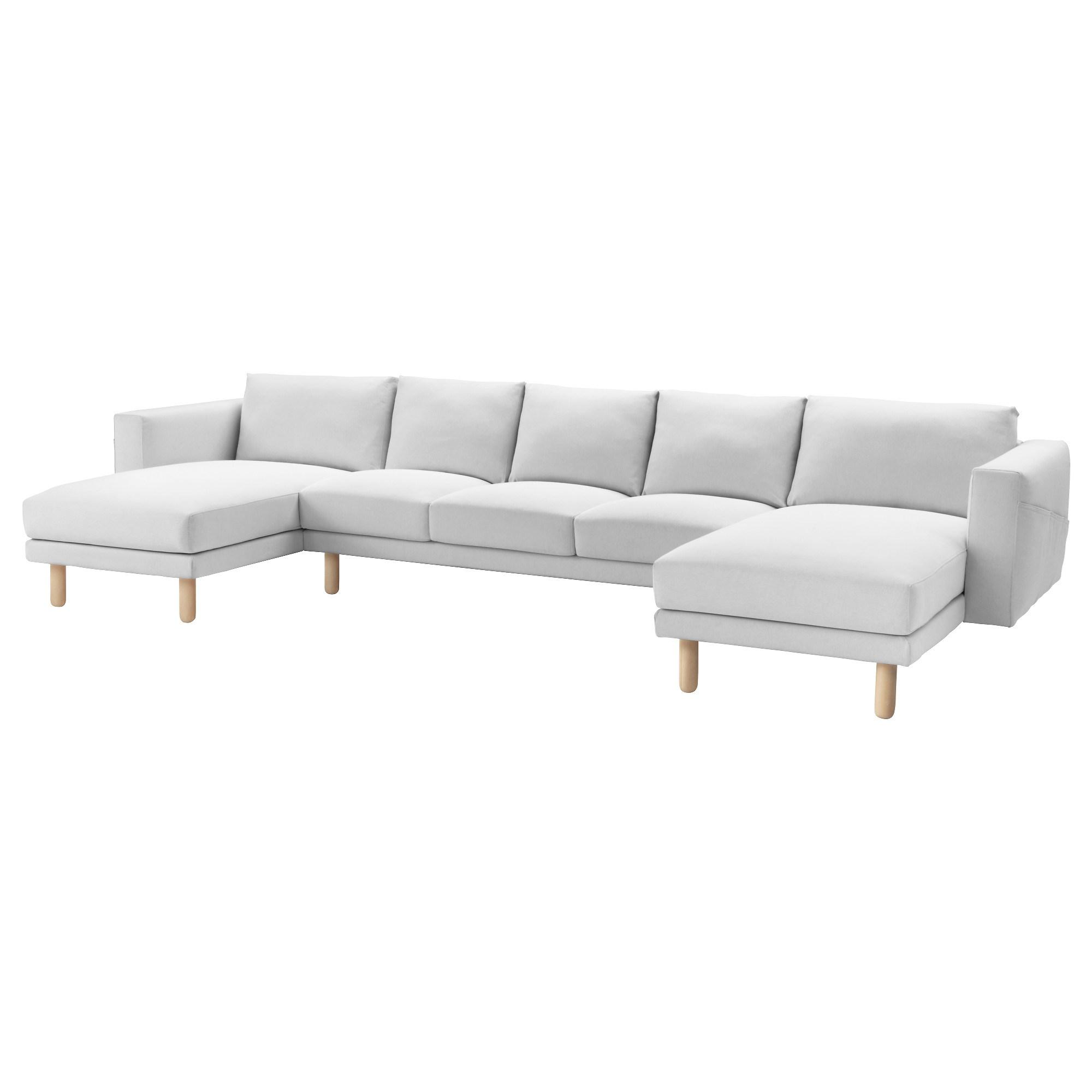 NORSBORG 3'lü kanepe ve 2 uzanma koltuğu finnsta beyaz-huş ...