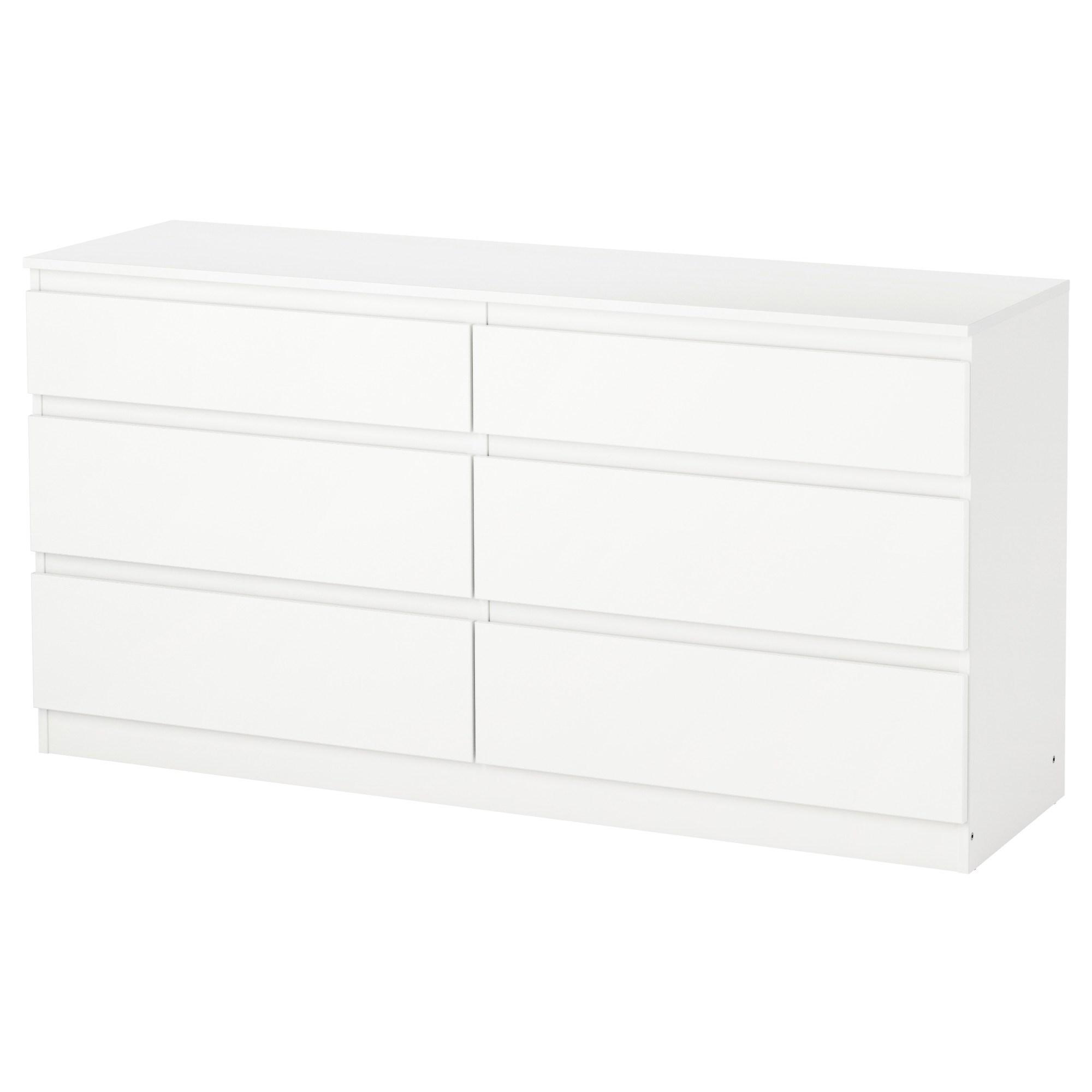 kullen chest of 6 drawers white 140x72 cm | ikea hallway