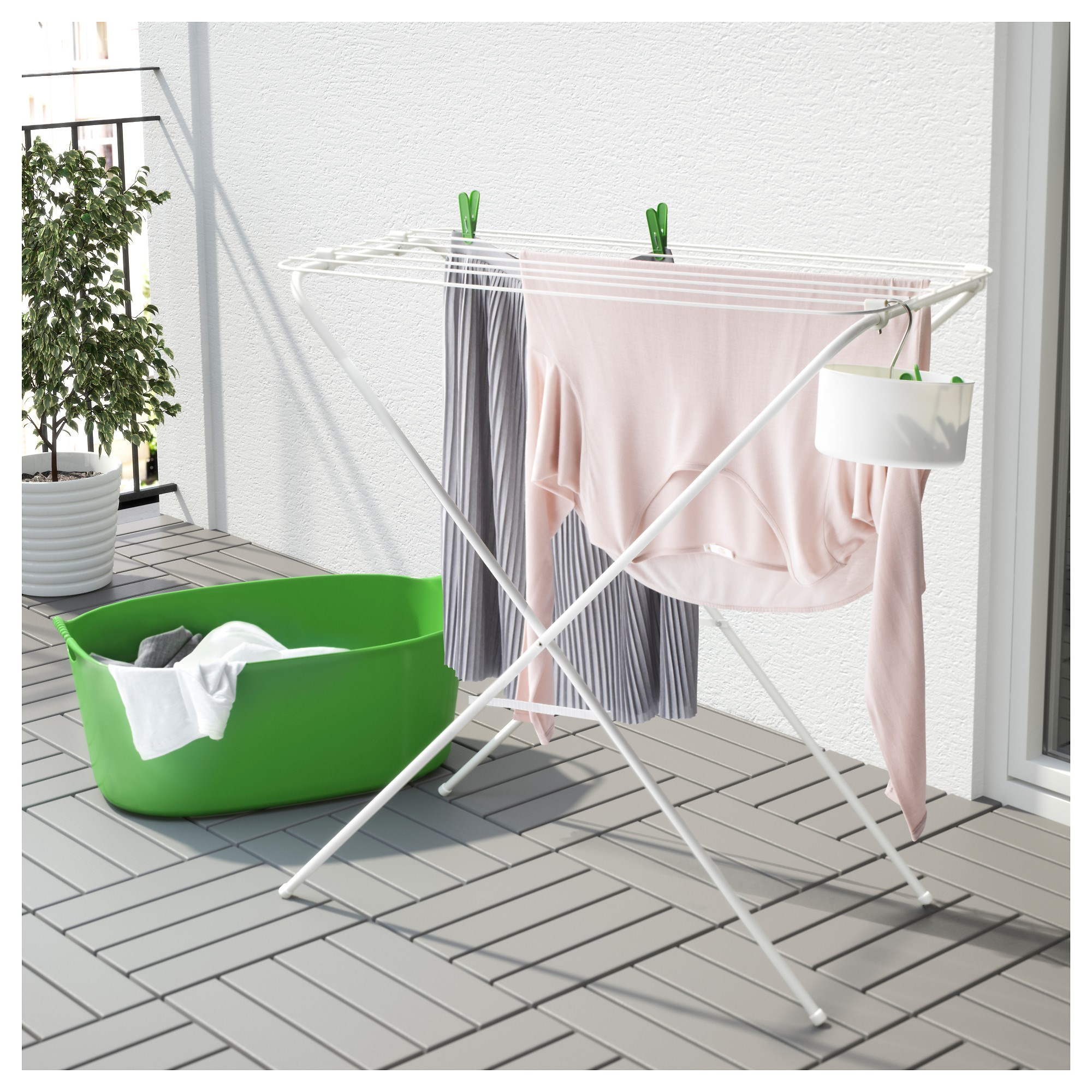 Jall Drying Rack White 79x40x82 Cm Ikea Storage Solutions