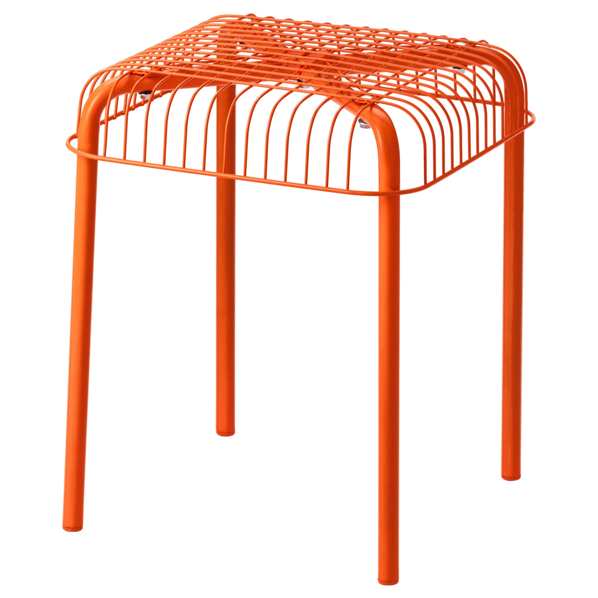 Ikea Stool Orange
