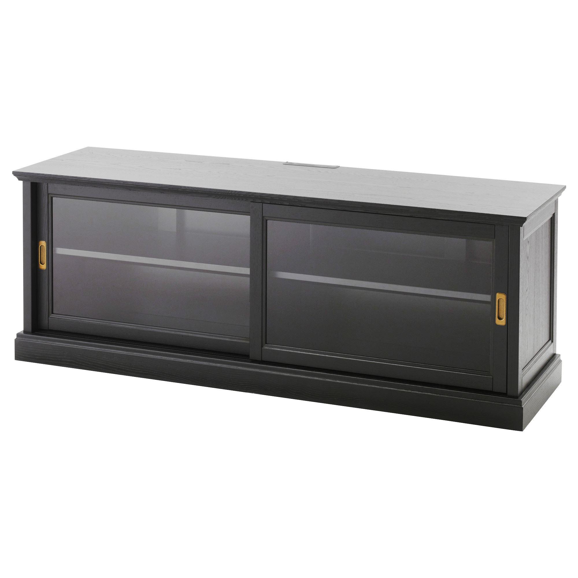 Malsjo Tv Sehpasi Siyah 160x48 Cm Ikea Tv Dolap Sistemleri