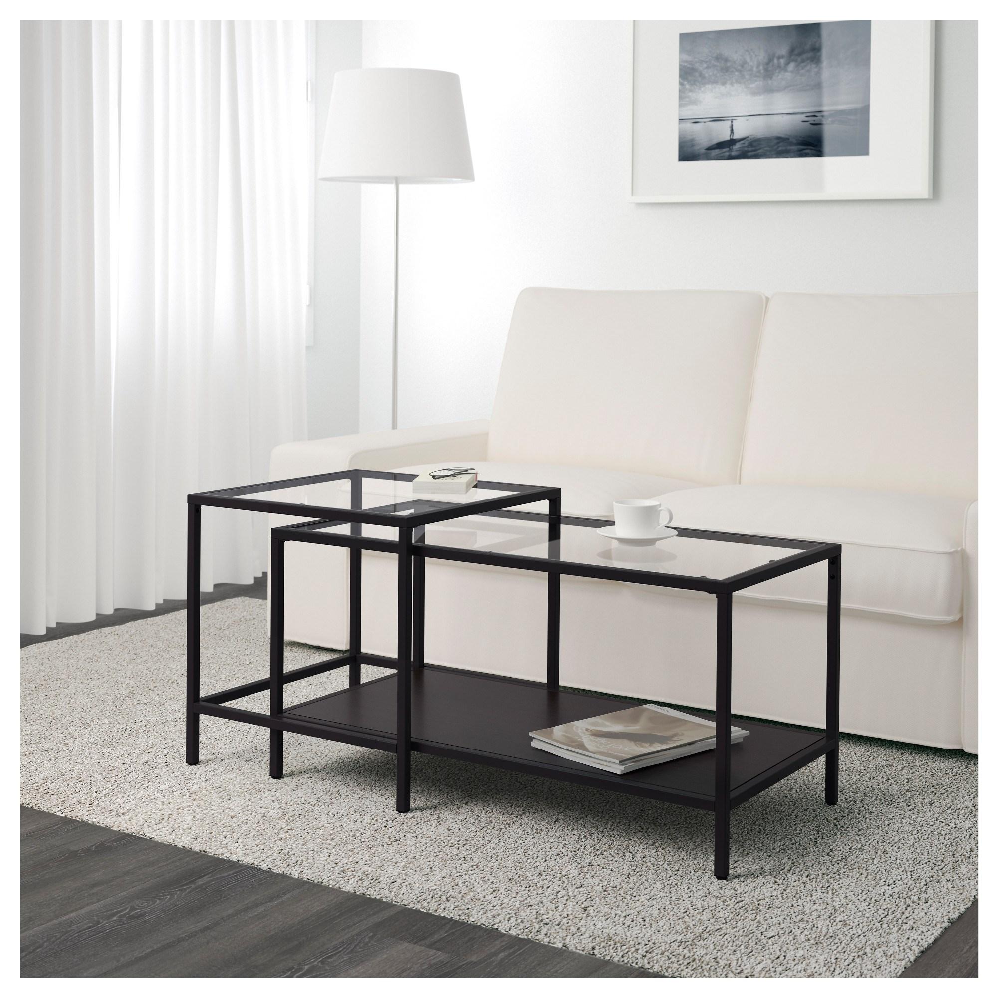Vittsjo Orta Sehpa Venge Cam 90x50 Cm Ikea Oturma Odalari