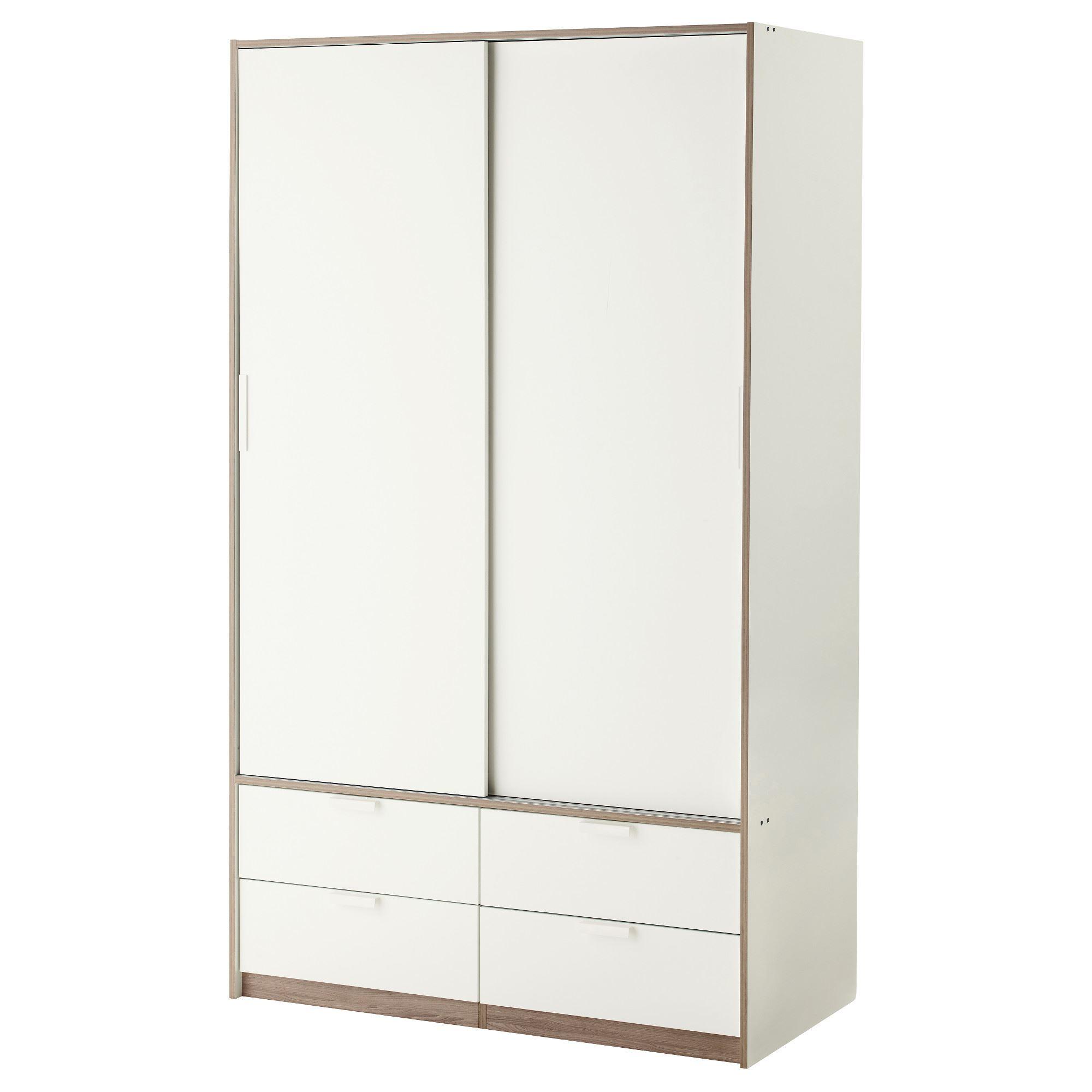 Trysil Sliding Door Wardrobe White 118x61x202 Cm Ikea Ikea For