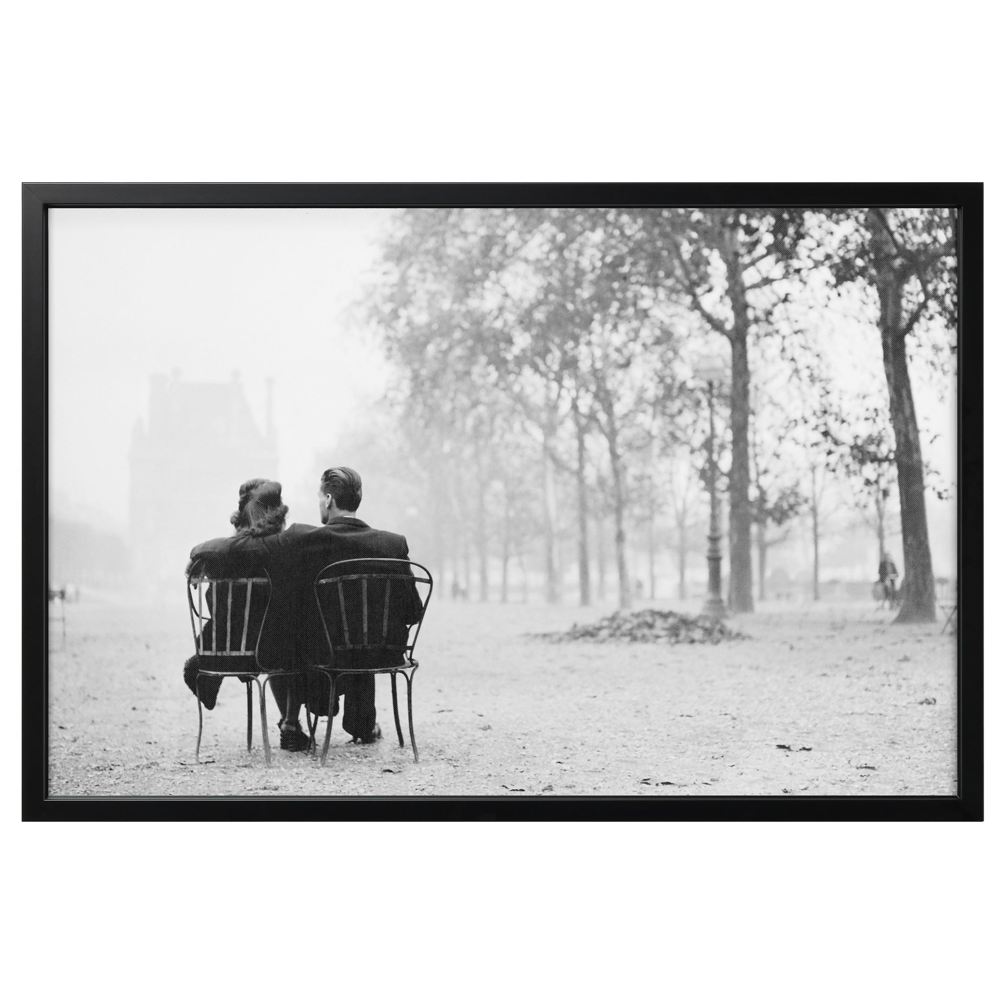 BJÖRKSTA picture with frame Parisian romance-black 78x118 cm | IKEA ...