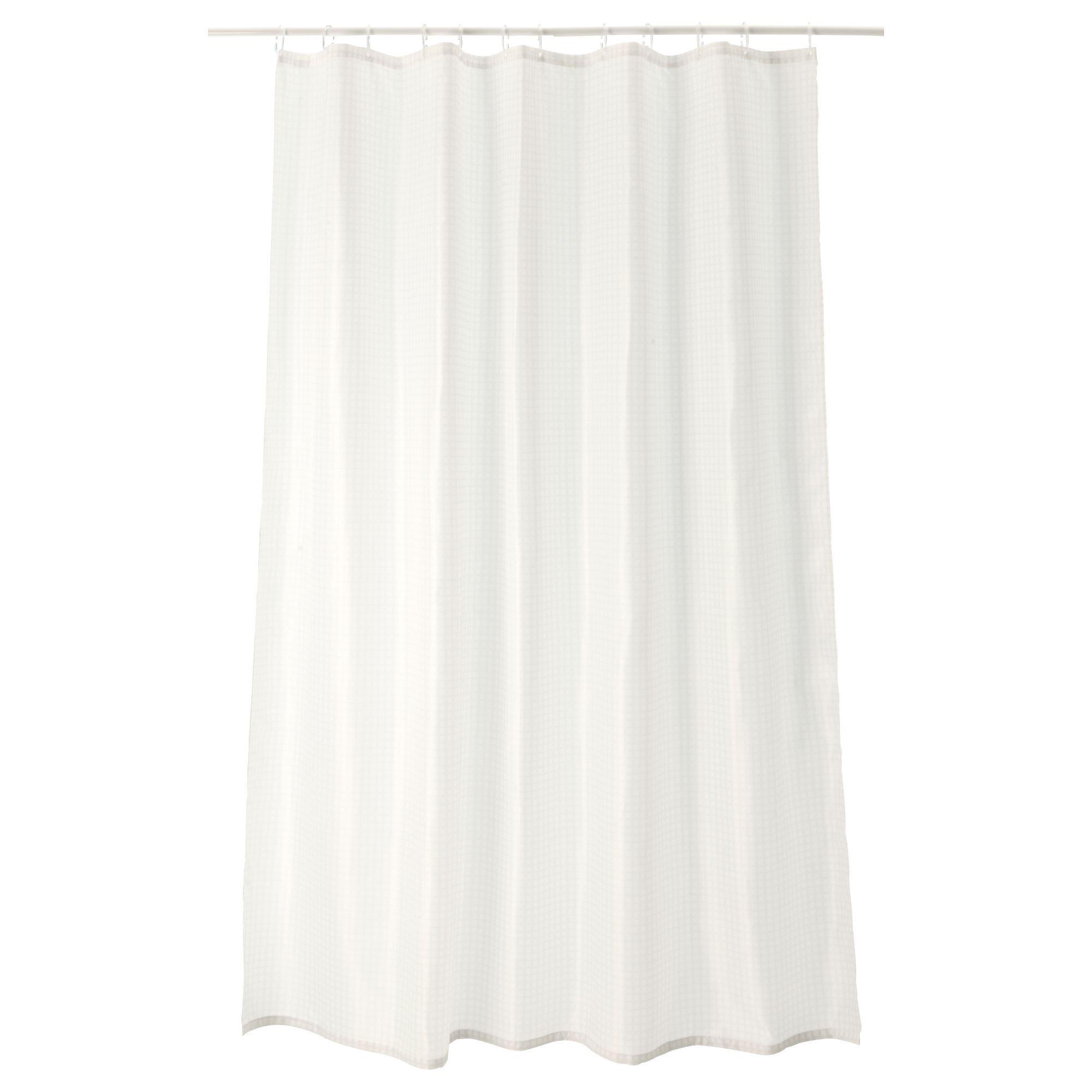 SAXALVEN Shower Curtain White 180x200 Cm