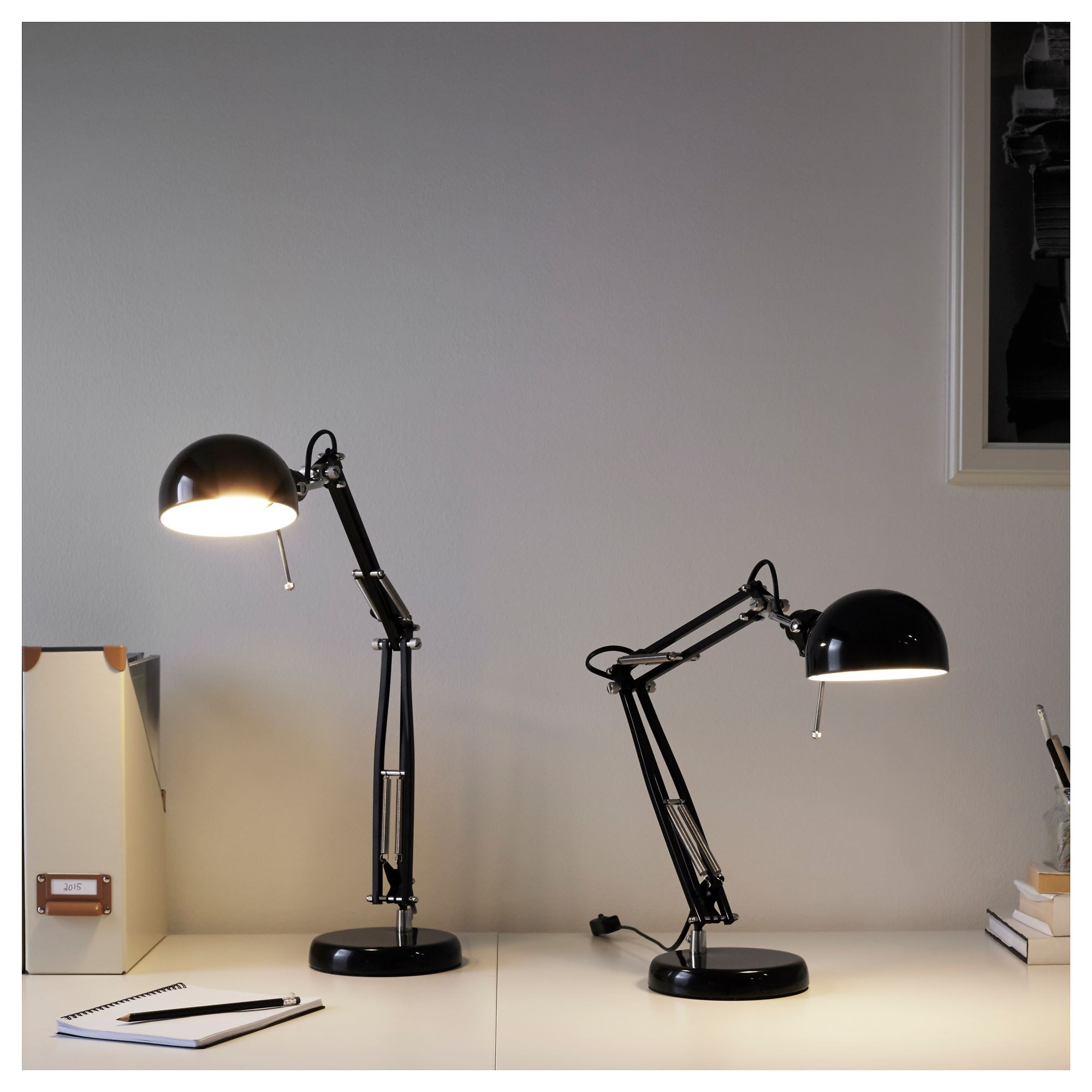 Forsa Work Lamp Black 35 Cm Ikea Lighting