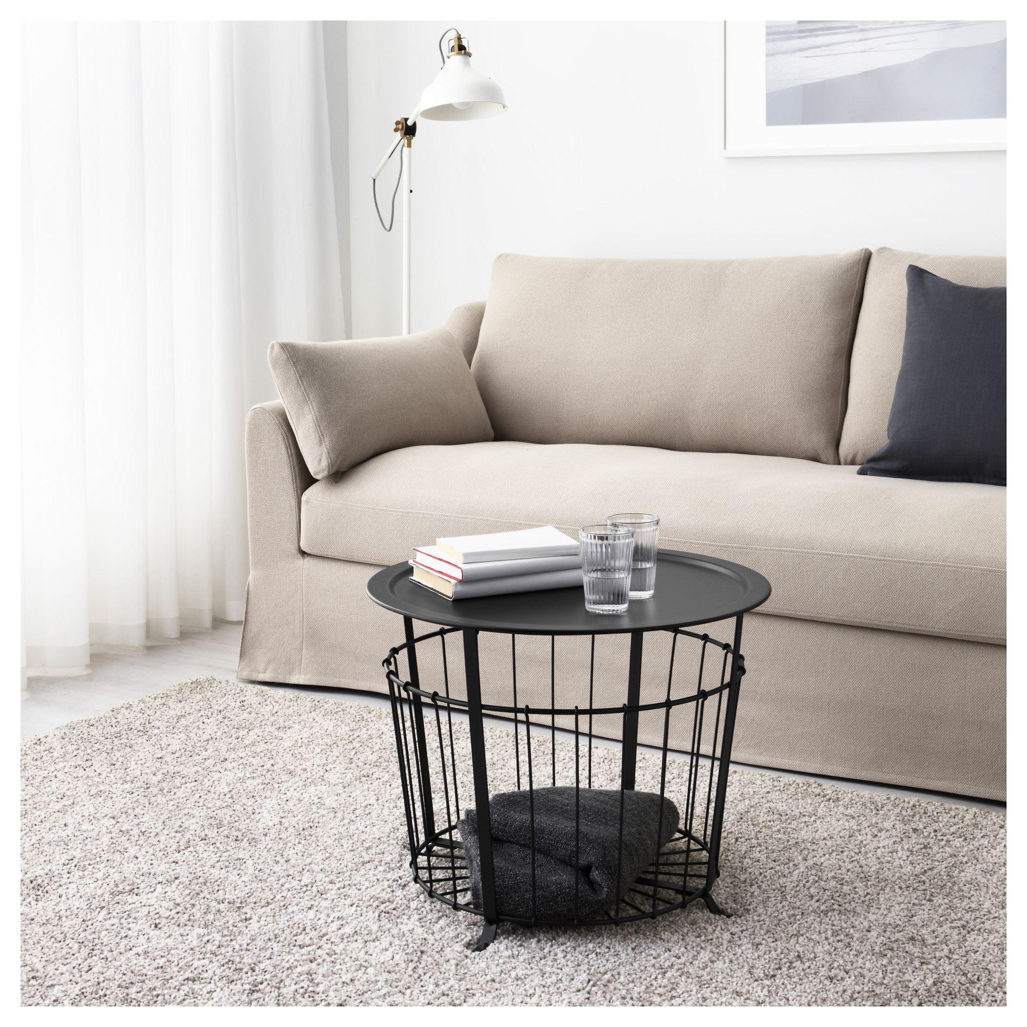 gualÖv storage table black 60 cm  ikea living room