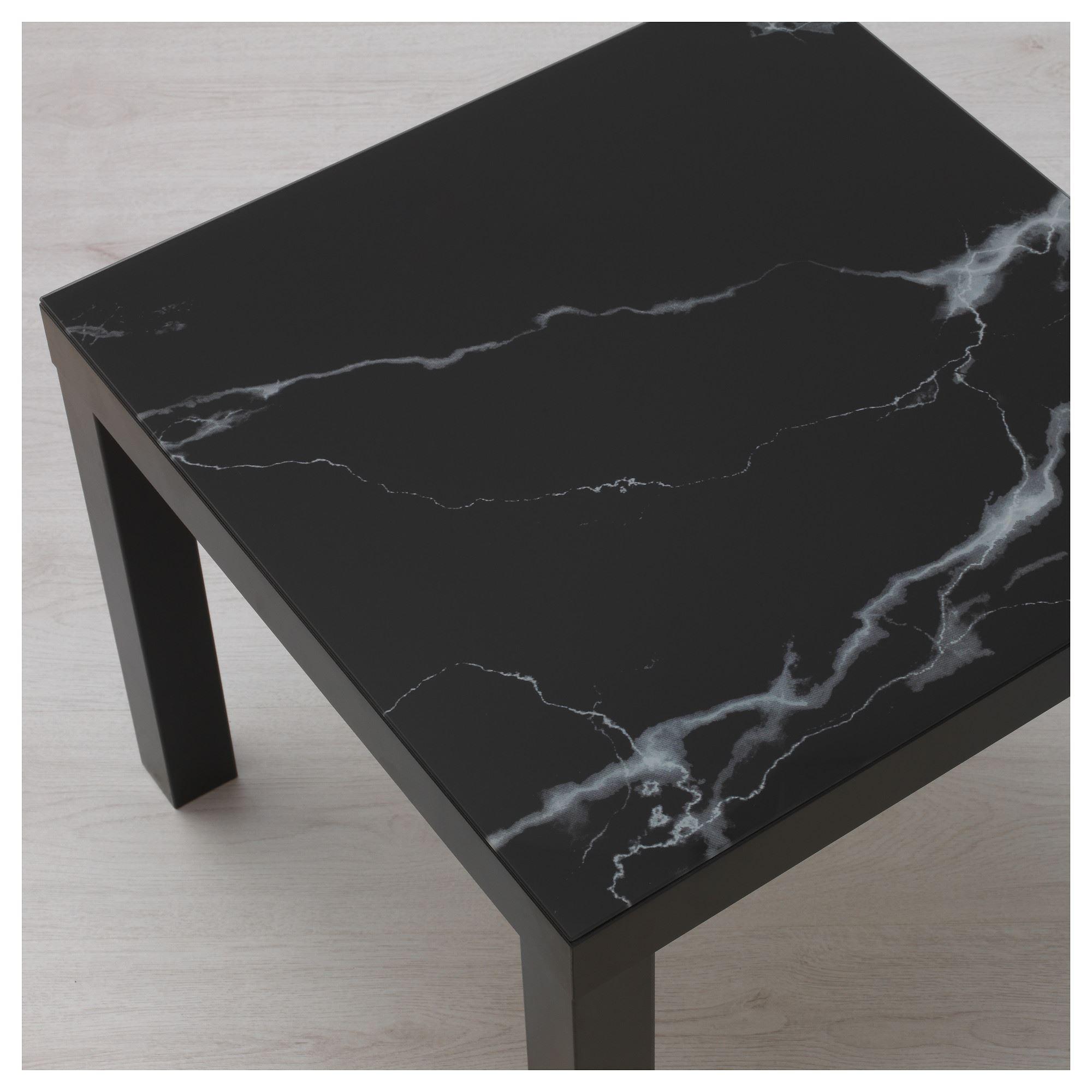 Lack Ust Cam Siyah Mermer Gorunumlu 55x55 Cm Ikea Oturma Odalari