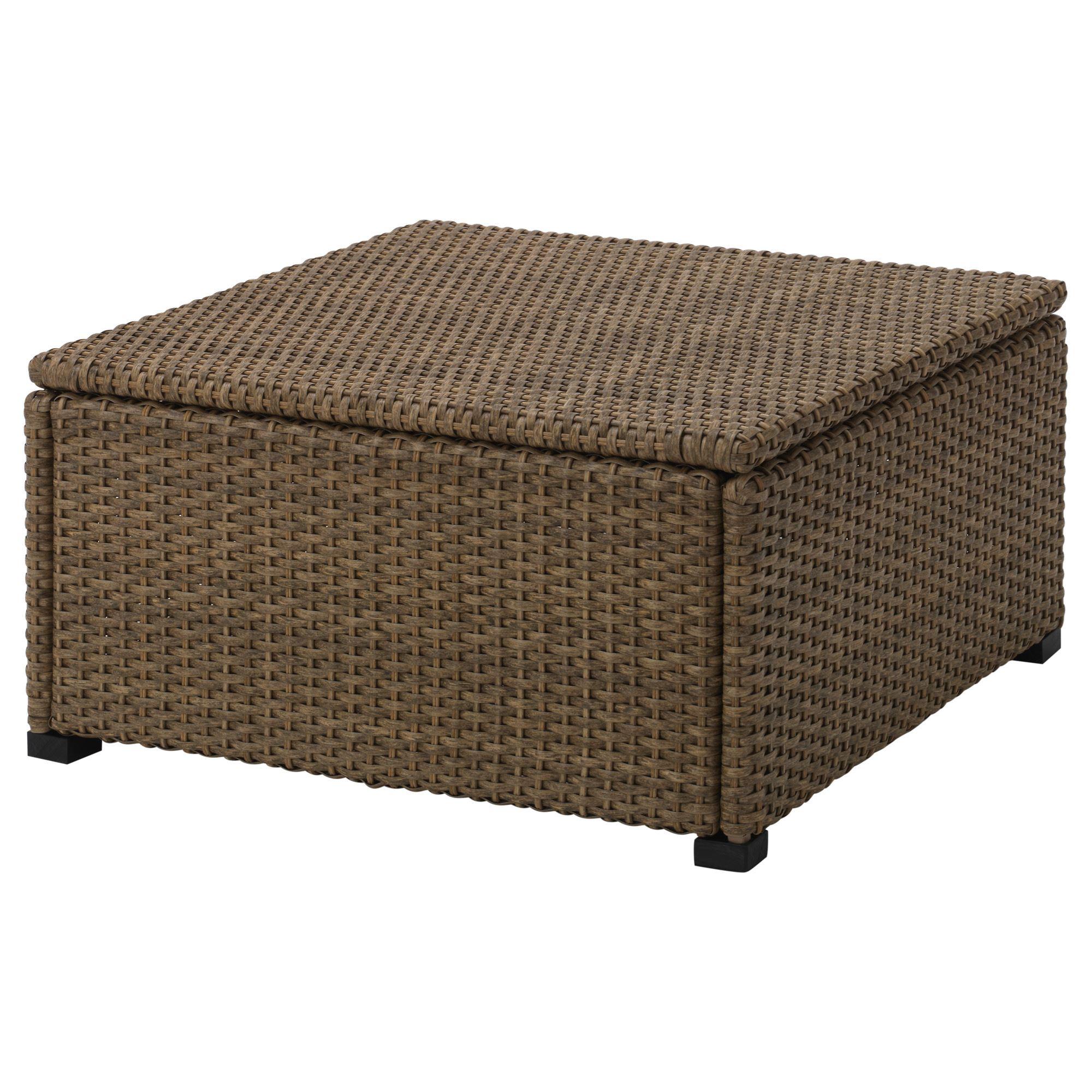 SOLLERÖN stool brown 62x62 cm | IKEA Outdoor