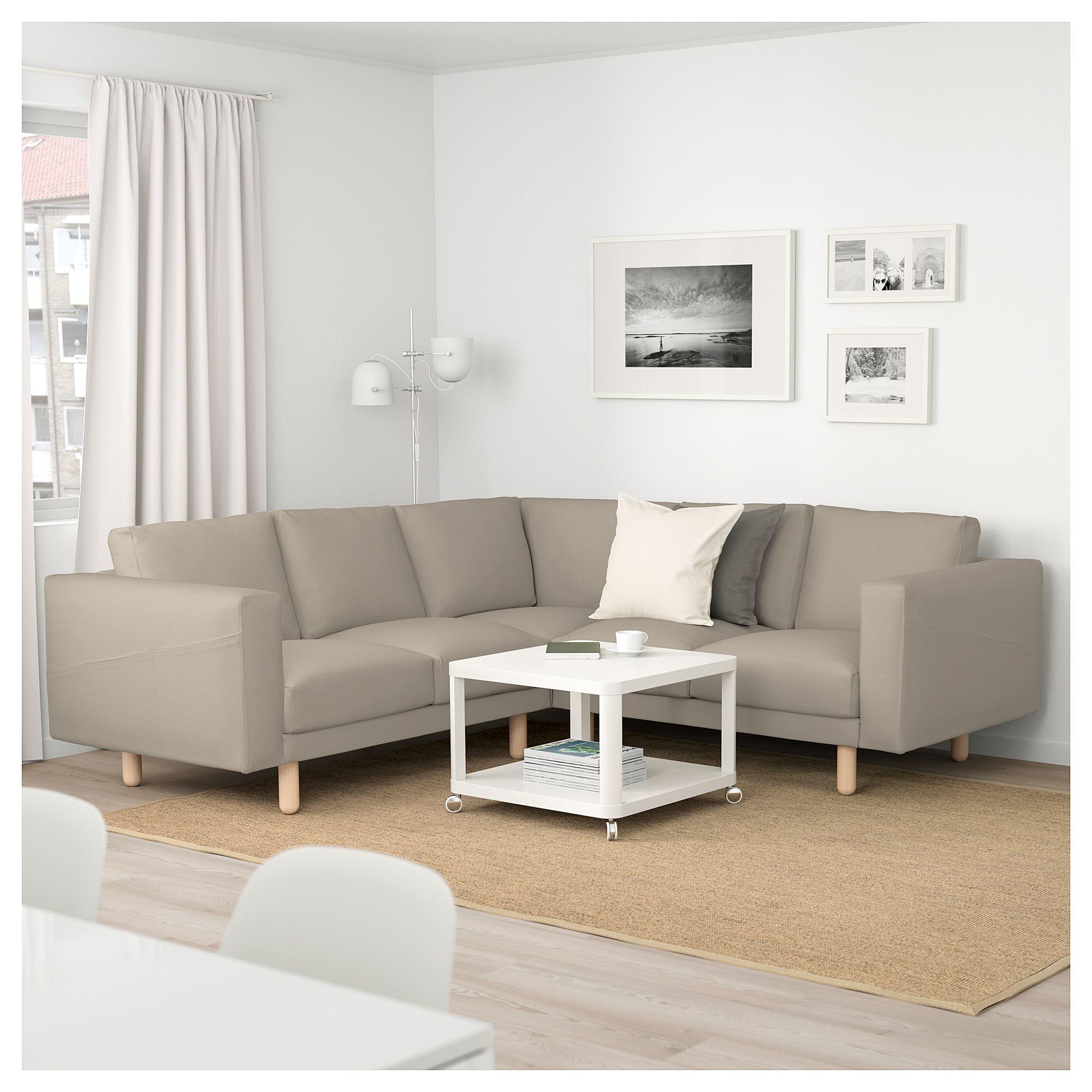 norsborg 4seat corner sofa edum beigebirch  ikea living