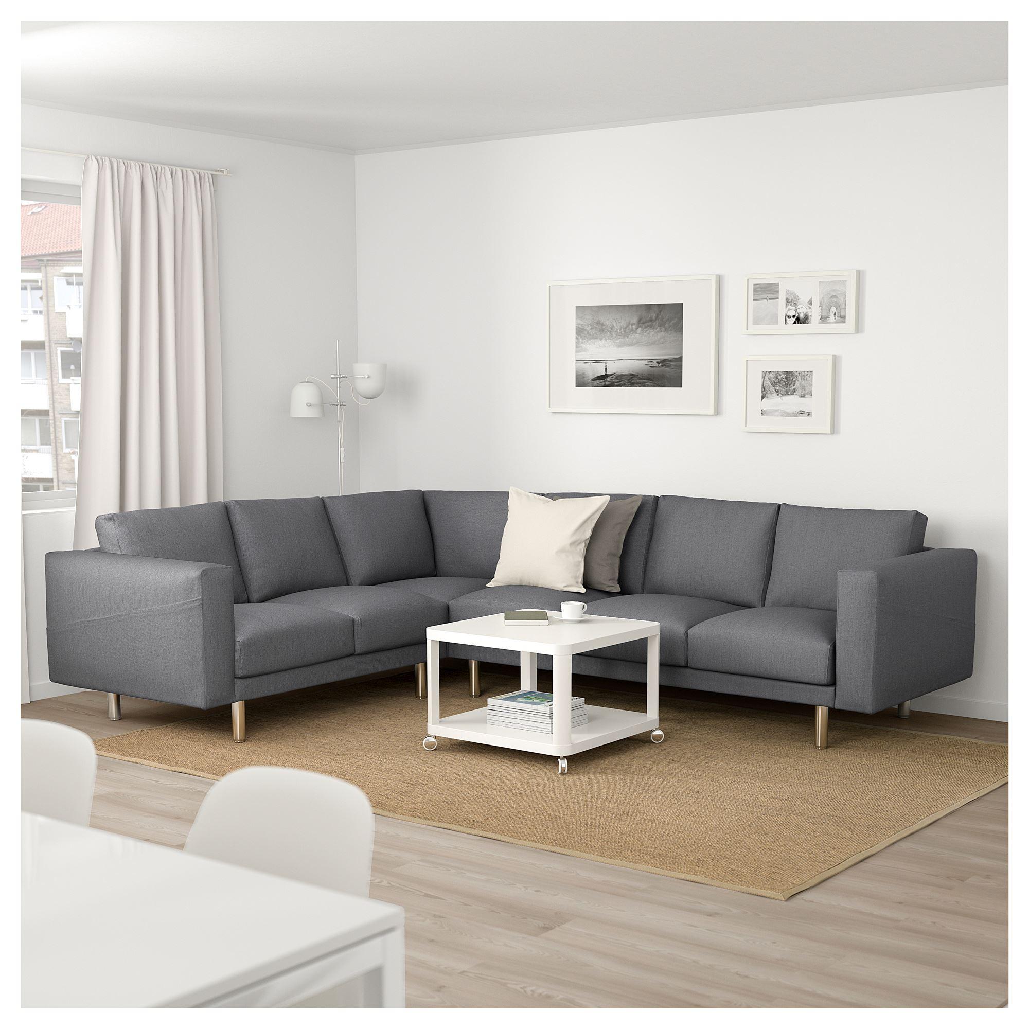 Norsborg 6 Seat Corner Sofa Finnsta Dark Grey Grey Ikea