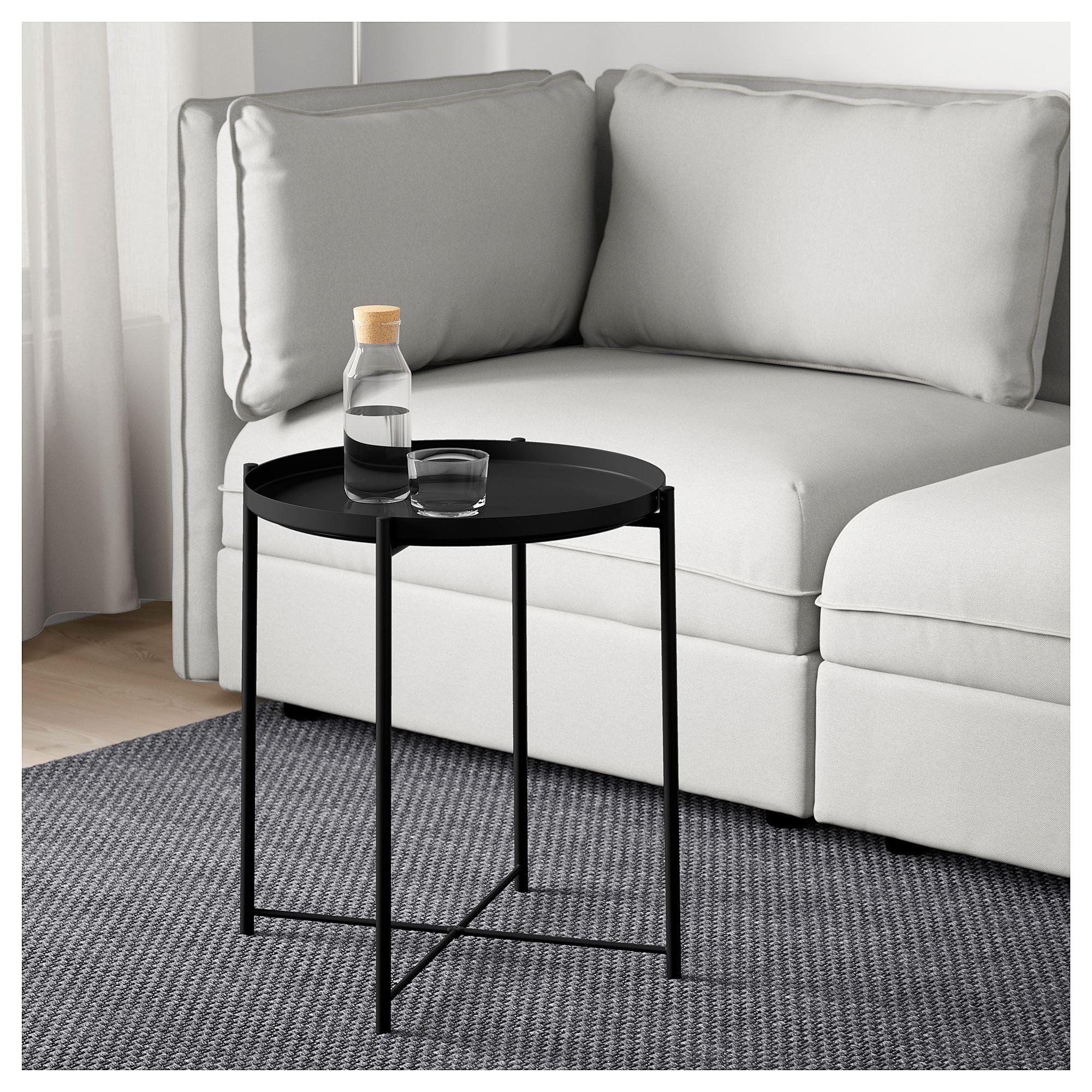 Gladom Tepsili Sehpa Siyah 45x53 Cm Ikea Oturma Odalari