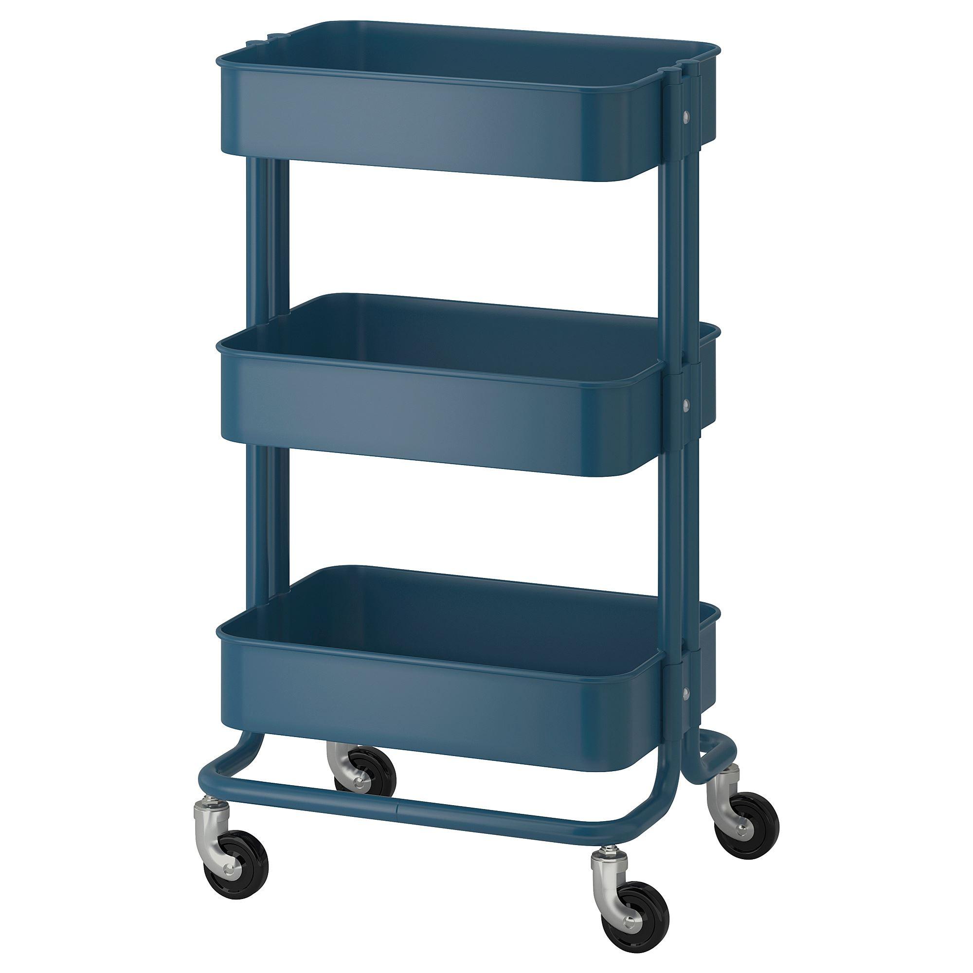 RASKOG trolley dark blue 35x45x78 cm | IKEA Kitchen