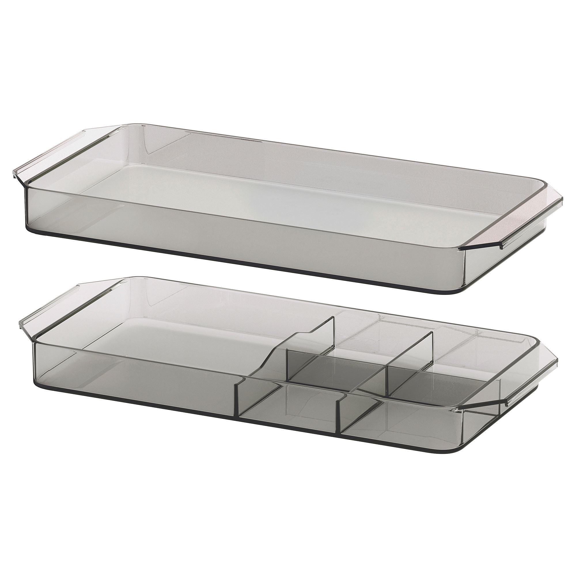 GODMORGON drawer organizer smoked  IKEA Bathroom