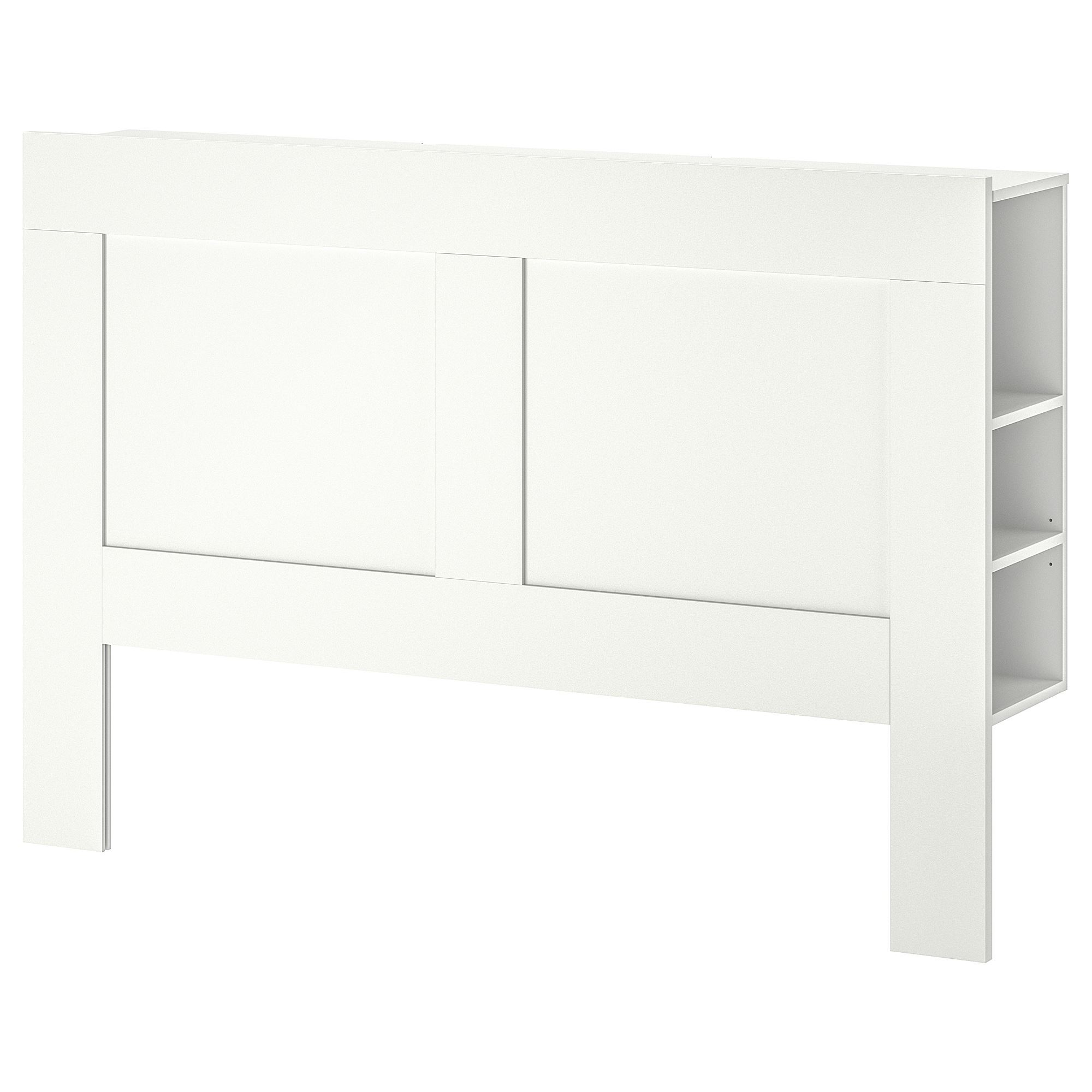 Ikea Bedroom Leirvik Hemnes Is Creative Inspiration For Us: BRIMNES Headboard With Storage Compartment White 140 Cm
