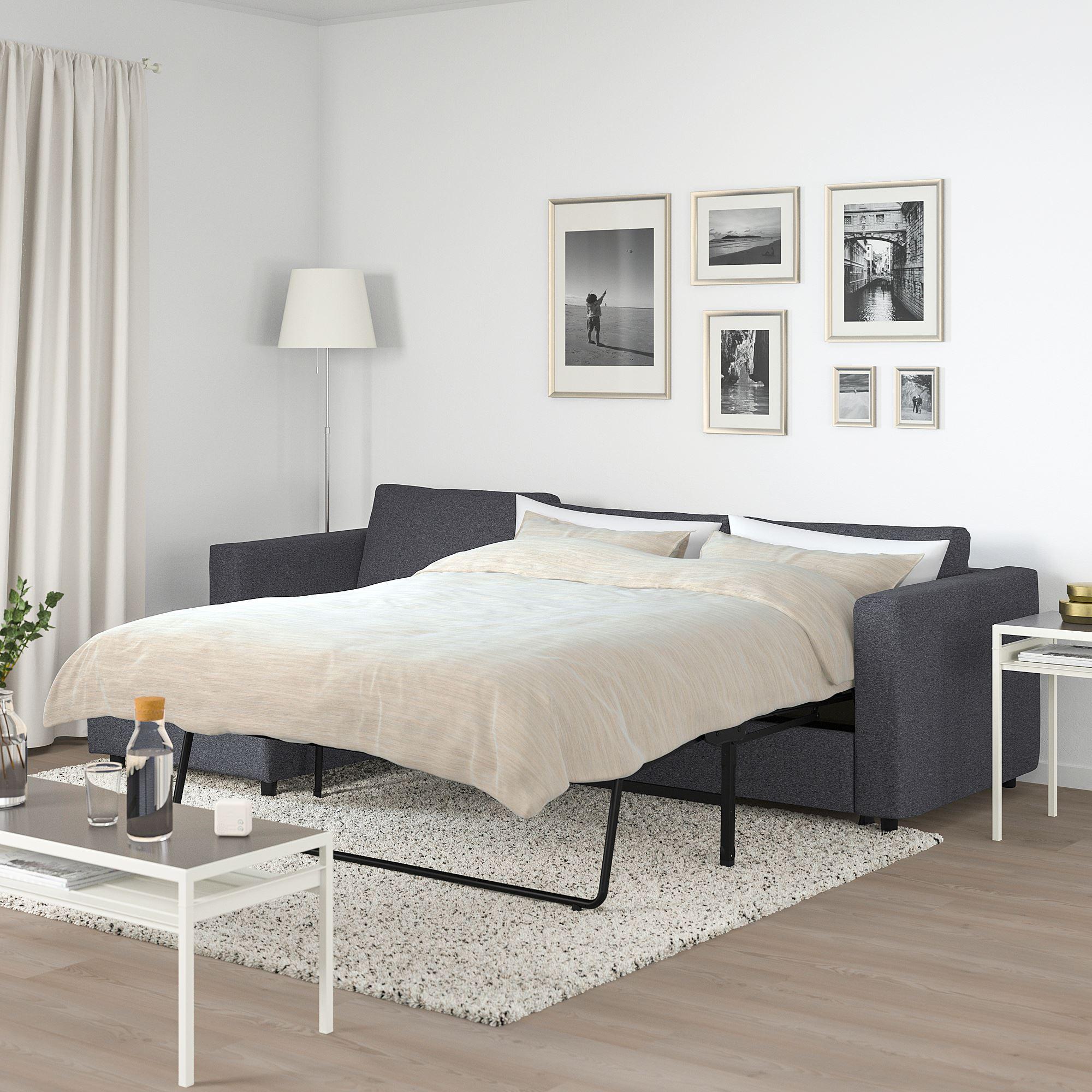 VIMLE 3 seat sofa bed with chaise longue Gunnared medium ...