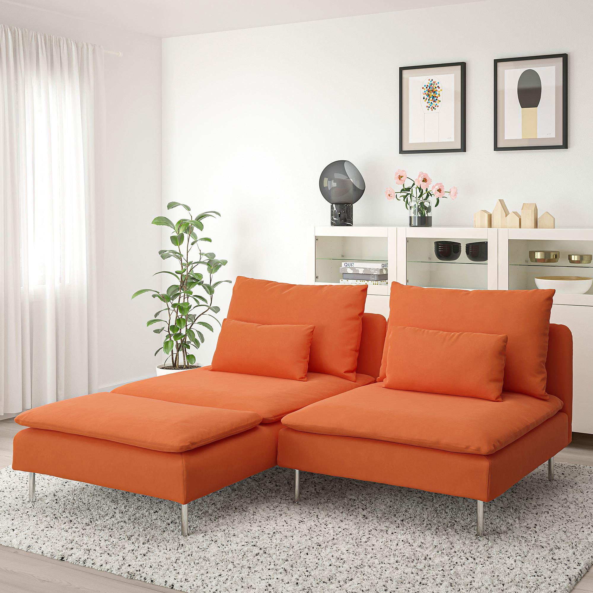 SÖDERHAMN 2'li kanepe ve uzanma koltuğu samsta turuncu ...