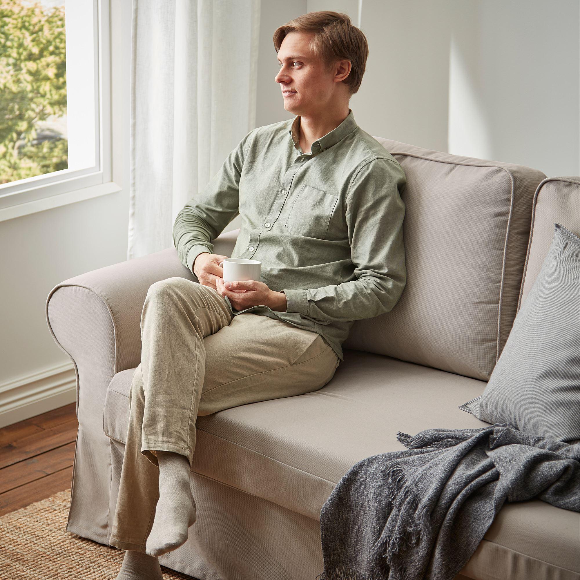 VRETSTORP 3 seat sofa bed totebo light beige   IKEA Living ...