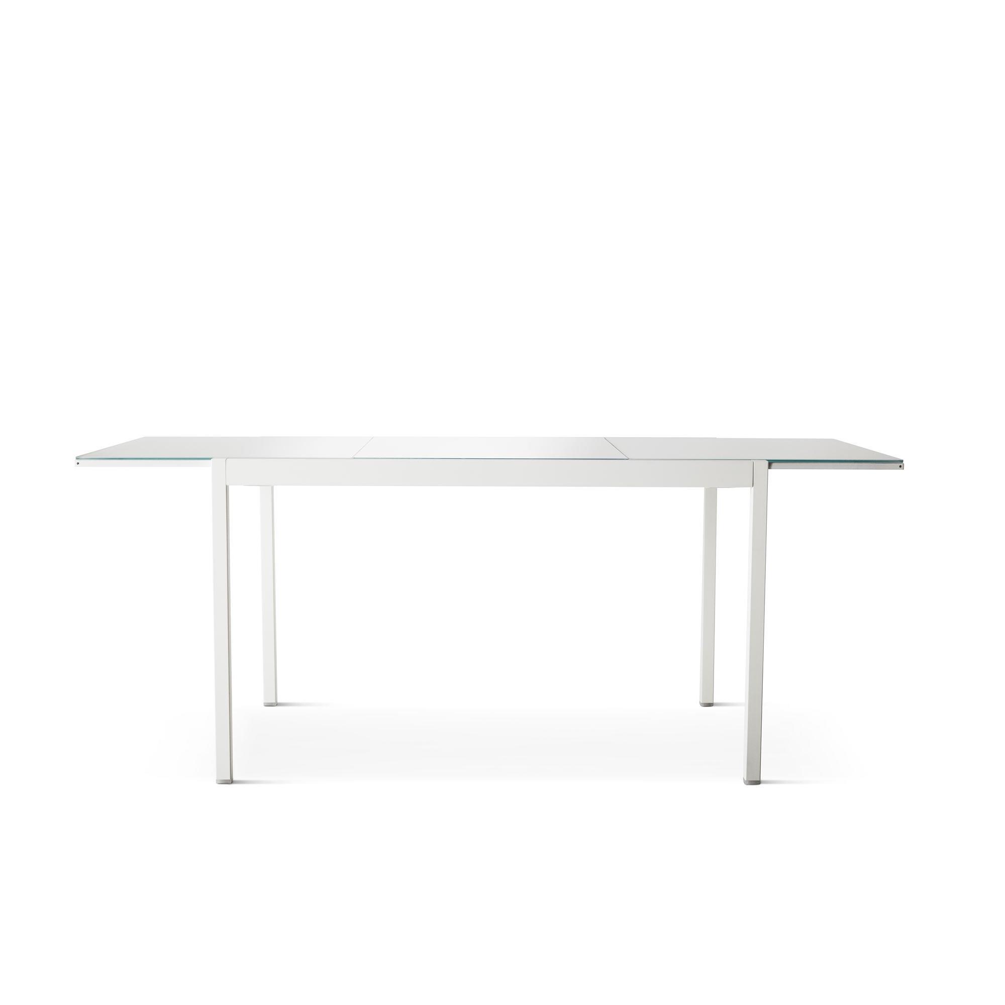 Glivarp Yemek Masasi Beyaz Cam 125 188x85 Cm Ikea Yemek Odalari