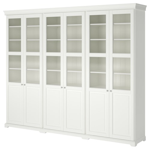 Liatorp kitapl k beyaz 288x37x214 cm ikea kitapl klar ve raflar - Ikea estanterias librerias ...
