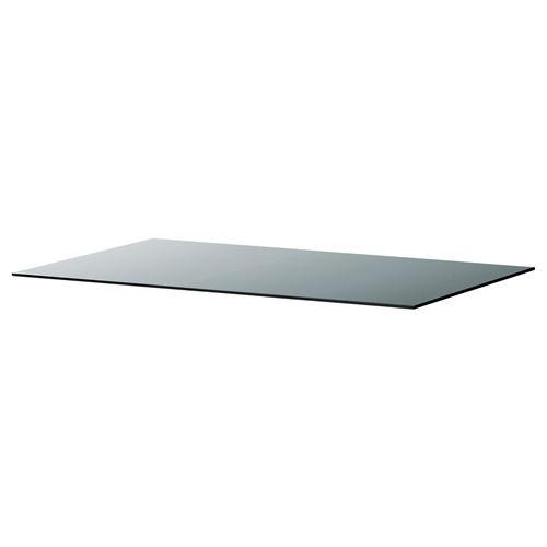 Malm glass top grey 160x48 cm ikea bedroom - Malm kommode glas ...