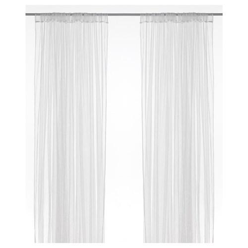 LILL Sheer Curtains, 1 Pair White 280x300 Cm