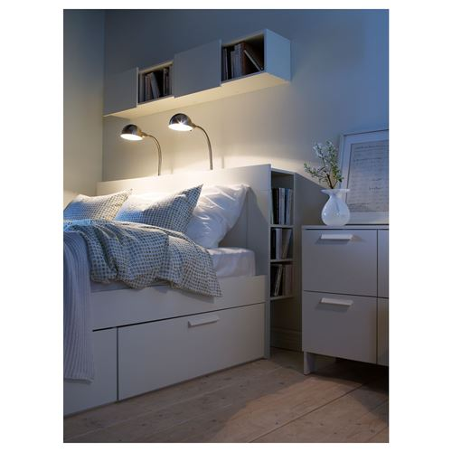BRIMNES,headboard with storage compartment