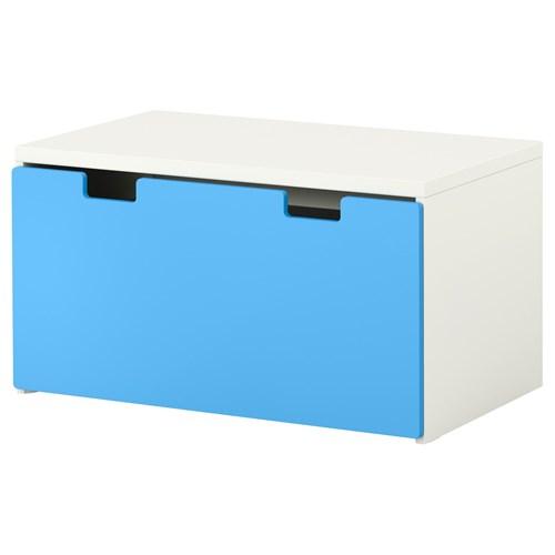 Stuva Bench With Storage White Blue 90x50x50 Cm Ikea