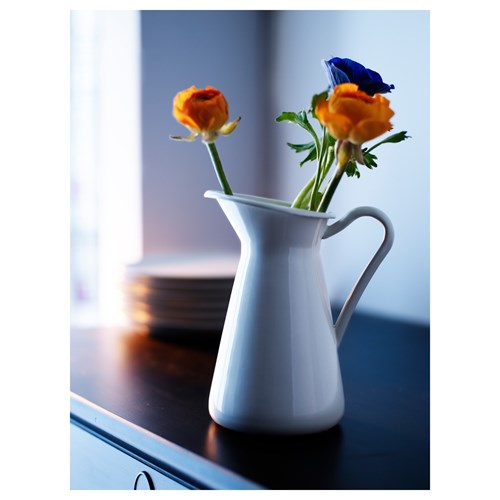Sockerart Vase White 22 Cm Ikea Home Decoration