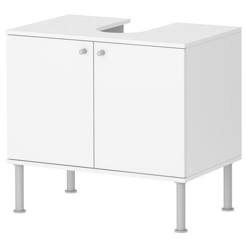 Fullen lavabo dolab beyaz 60x55 cm ikea banyolar - Armario bajo lavabo pie ...
