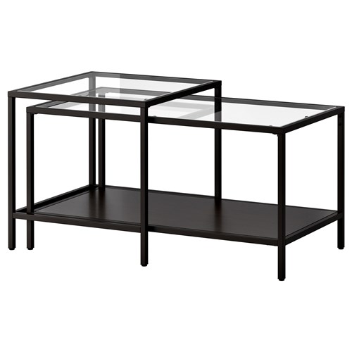 vittsj orta sehpa venge cam 90x50 cm ikea oturma odalar. Black Bedroom Furniture Sets. Home Design Ideas