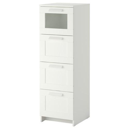 BRIMNES 4 çekmeceli şifonyer beyaz 39x124 cm  IKEA Yatak Odaları