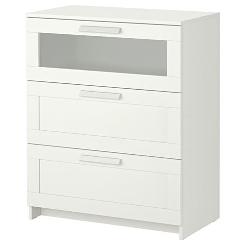 Brimnes Chest Of 3 Drawers White 78x95 Cm Ikea Bedroom