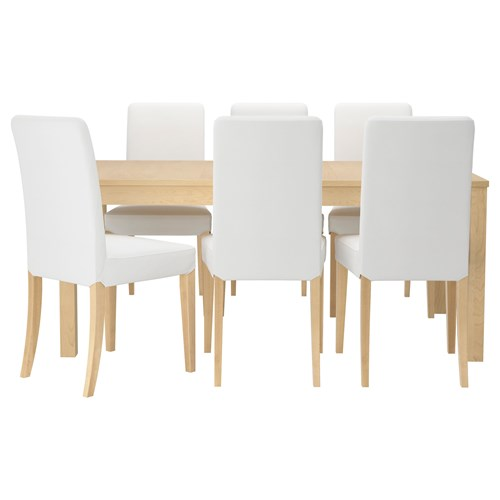 Bjursta henriksdal dining table and chairs birch veneer for Hover tr table