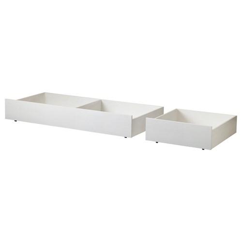 Brusali yatak alt e ya kutusu beyaz ikea yatak odalar for Cajones bajo cama ikea