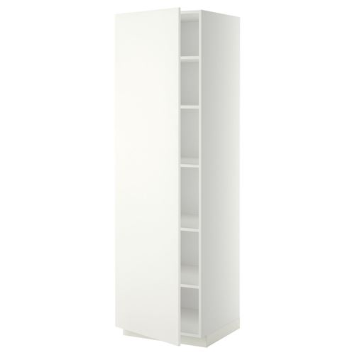 METOD,high cabinet with doors
