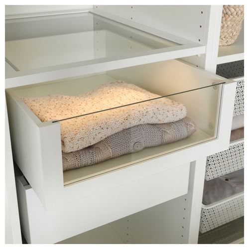 KOMPLEMENT,drawer with glass front