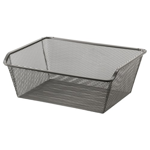 komplement wire basket dark grey 50x35 cm ikea bedroom. Black Bedroom Furniture Sets. Home Design Ideas
