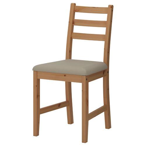 Lerhamn sandalye a k antika vernik vittaryd bej ikea - Sillas dormitorio ikea ...