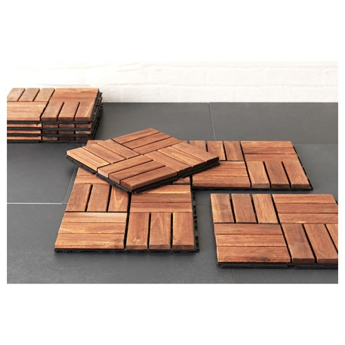 RUNNEN Floor Decking Brown 30x30 Cm | IKEA Outdoor