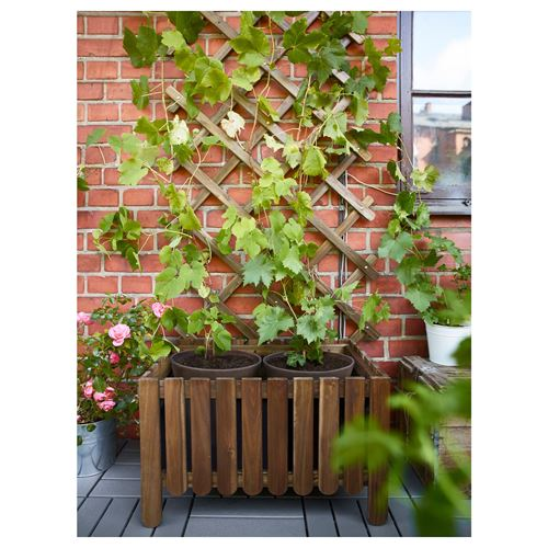 Ikea askholmen  ASKHOLMEN bahçe çiti gri-kahverengi | IKEA Yaz Ürünleri